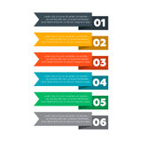 Infographics elements. Six steps process. Vector illustration stock illustration
