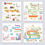 Infographics Elements Symbols and Icons Retro Style Design Template on Stylish Abstract Background Vector Illustration Royalty Free Stock Photos