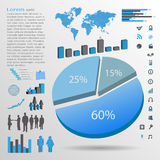 Infographics Elements, Vector Illustration Royalty Free Stock Photos