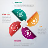 Infographics elements vector template. Abstract infographics elements concept with different stage and parts elements. Layout of data infographics. Timeline and Royalty Free Stock Photos
