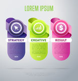 Infographics elements vector template. Abstract infographics elements concept with different stage and parts elements. Layout of data infographics. Timeline and Royalty Free Stock Photo