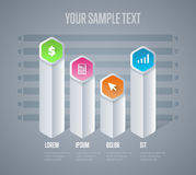 Infographics elements vector template. Abstract infographics elements concept with different stage and parts elements. Layout of data infographics. Timeline and Stock Image