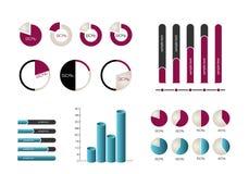 Infographics elementy Obrazy Royalty Free