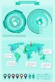 Infographics elementy Obraz Royalty Free