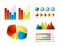 Infographics elementy Zdjęcia Royalty Free