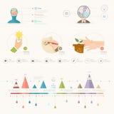 Infographics elementy ilustracja wektor