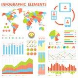 Infographics-elemetns Sammlung Lizenzfreies Stockbild