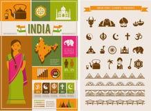 Infographics en de elementen van India Royalty-vrije Stock Afbeelding