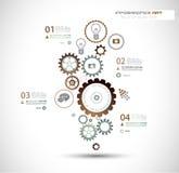 Infographics en High-tech achtergrond voor zaken Stock Afbeeldingen