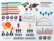 Infographics en onderwijs, zaken Stock Afbeelding