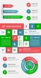 Infographics en Webelementen Stock Afbeelding