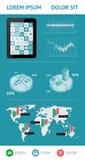 Infographics en Webelementen Royalty-vrije Stock Foto