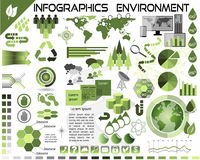 Infographics Environment Ecology EPS10. All objects grouped separately and easy to edit, EPS10 Stock Photos
