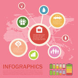 Infographics of an environment Royalty Free Stock Photography