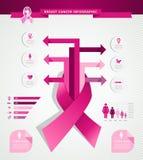 Infographics EPS10 för bröstcancermedvetenhetbegrepp royaltyfri illustrationer