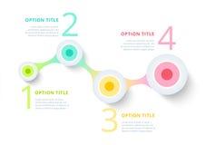 Infographics för affärsprocessdiagram med momentcirklar runt vektor illustrationer