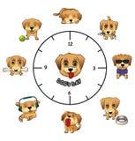 Infographics för dagliga aktiviteter för hundkapplöpning rolig royaltyfri illustrationer