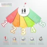 Infographics för designnummeralternativ också vektor för coreldrawillustration Arkivbild