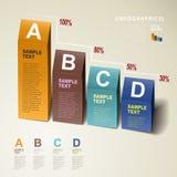Infographics för diagram 3d för vektor abstrakt Royaltyfri Fotografi