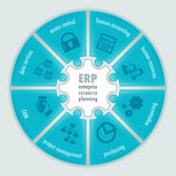Infographics för företagresursplanläggning Royaltyfri Bild