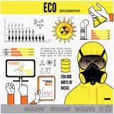 Infographics för fossila bränslenbransch, extraktion Royaltyfri Bild