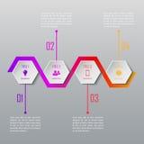 Infographics för fyra moment Infographic mall Arkivbild