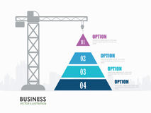 Infographics för konstruktion för pyramiddiagramalternativ Fotografering för Bildbyråer