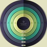 Infographics för mål 3d för vektor abstrakt Royaltyfri Foto
