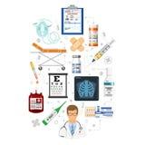 Infographics för medicinsk service Royaltyfria Bilder