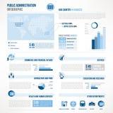 Infographics för offentlig administration Arkivfoton