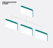 Infographics för organisationsdiagram med trädet, tem för organisationsdiagram stock illustrationer