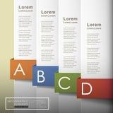 Infographics för papper 3d för vektor abstrakt vektor illustrationer