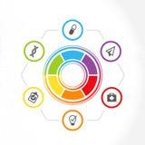 Infographics f?r presentationer av kliniker eller doktorer royaltyfri illustrationer