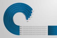 Infographics för timeline för stil för fem momentorigami med symboler stock illustrationer