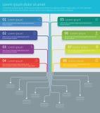 Infographics för vektor för trädprocessmindmap Arkivbilder
