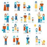 Infographics för vektor för uppsättning för mall för baner för sjukvårdläkarundersökninglägenhet Royaltyfri Fotografi