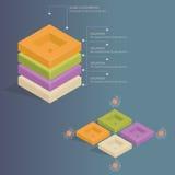 Infographics - försäljningsomvandling Arkivfoton