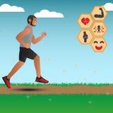 Infographics für Vorteile des Laufens Lizenzfreie Stockfotos