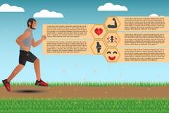 Infographics für Vorteile des Laufens und des Rüttelns Lizenzfreie Stockbilder