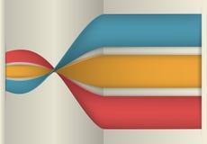 Infographics-Fahne, Vektor-Illustration Stockbild