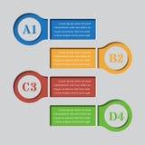 Infographics-Fahnen - Designschablonen Lizenzfreie Stockfotos