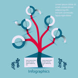Infographics family-family tree Royalty Free Stock Photo