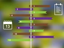Infographics-Farbaufkleber mit Geschäftsikonen vektor abbildung