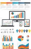 Infographics financier Photo stock