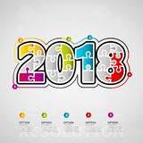 2018 infographics Stock Images