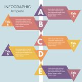 Infographics-84. Five steps infographic design elements. Step by step infographic design template. Vector illustration Royalty Free Stock Photo