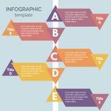 Infographics-84. Five steps infographic design elements. Step by step infographic design template. Vector illustration Stock Illustration
