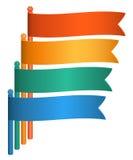 Infographics-Flagge-Darstellung-Schablone-Design-Element Stockbilder