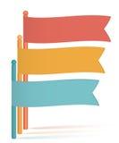Infographics-Flagge-Darstellung-Schablone-weiß-Hintergrund Lizenzfreie Stockbilder
