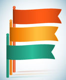 Infographics flags presentation template gradient background Royalty Free Stock Photography